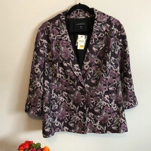 Brand New Lane Bryant Purple Floral Blazer